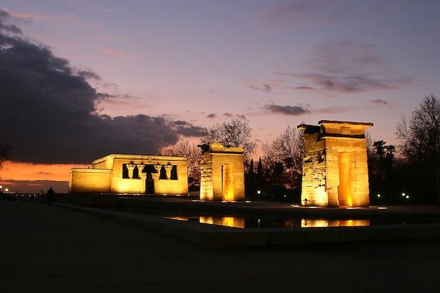 스페인 마드리드의 이집트에서 데 보드 사원.