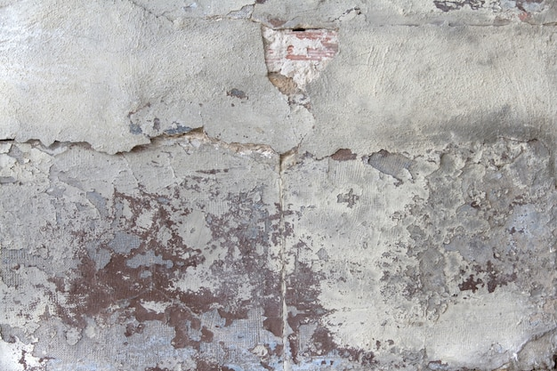 Decaying concrete wall