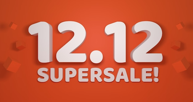 December 12th. 12.12 supersale banner