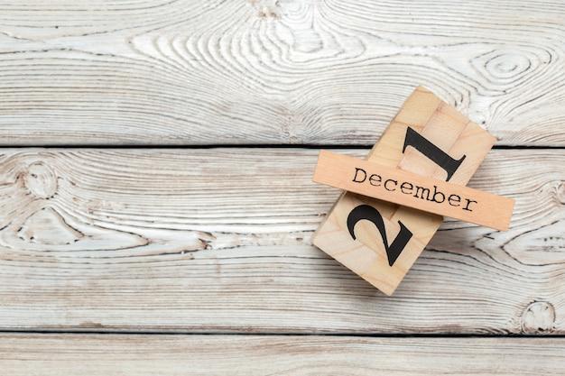 December 21. day 21 of december month, calendar. winter time