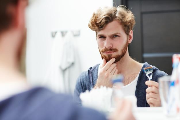Deciding to shave