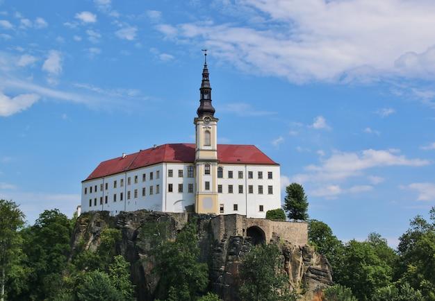 Decin castle in czech republic
