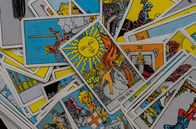 Deck of cards tarot rider-waite.