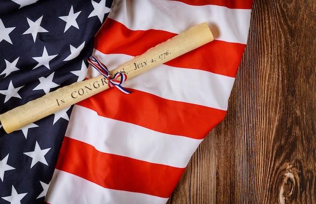 Декларация независимости четвертого июля рулонный документ
