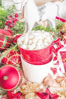 つまらないもの、クリスマスギフトボックス、ホットチョコレートカップの装飾