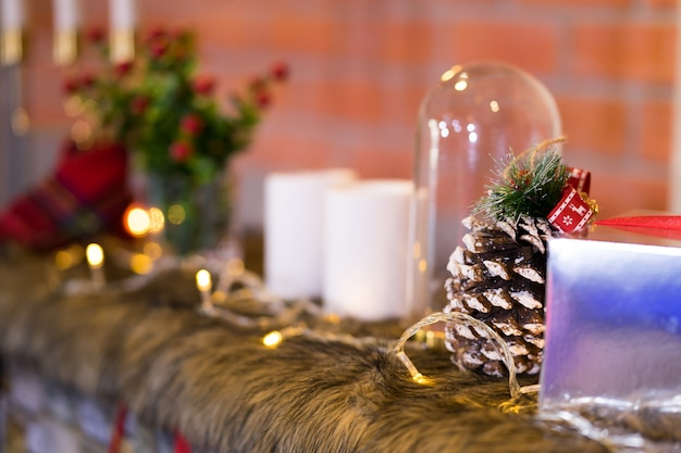Decorated christmas  with solf selective focus  and blurred background
