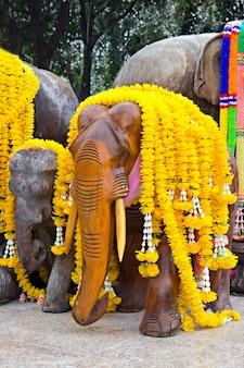 Decorated elephants