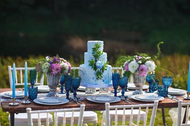 결혼식 우아한 저녁 식사 테이블 장식