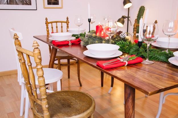 Decoration for christmas dinner