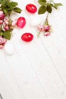 장식 꽃 부활절 달걀 휴일 전통