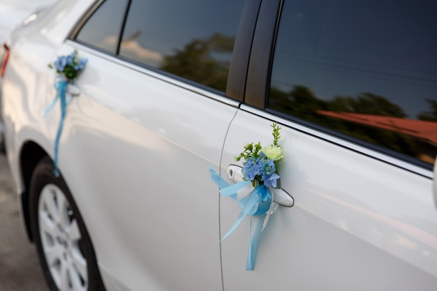 Decoration for just married car