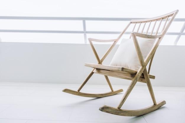 Decoration seat wood chair rocking