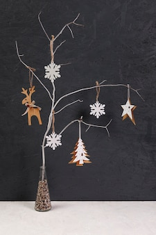 Decoration with small decorated tree