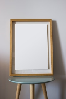 Decoration wooden frame for you poster or photography