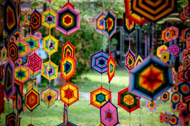 Decorations motif style art from cotton  of thailand