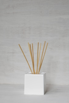 Decorative aromatic bamboo sticks.