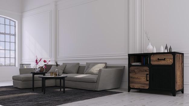 家、オフィス、ホテルの装飾的な背景。モダンなインテリアデザイン