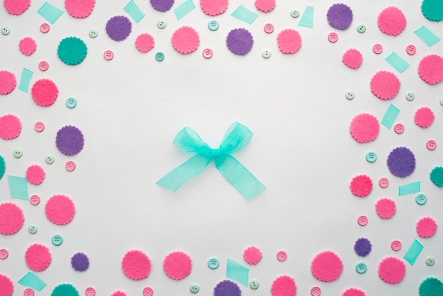 Decorative background with bright festive confetti.