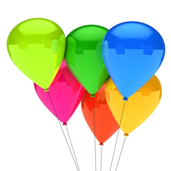 Decorative balloons for a birthday