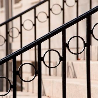 Decorative bannister on staircase in boston, massachusetts, usa