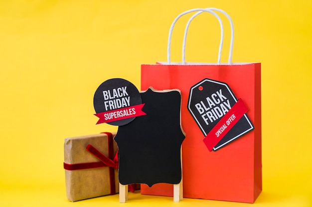Decorative black friday composition