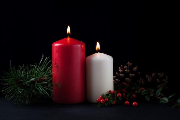 クリスマス用の装飾キャンドル