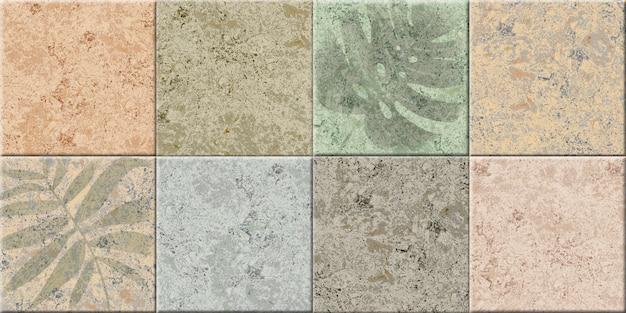Декоративная керамическая плитка в ретро цветах с натуральной мраморной фактурой. элемент дизайна интерьера. фоновая текстура