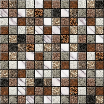 Decorative ceramic tiles with natural marble texture. element for interior design. background texture, mosaic