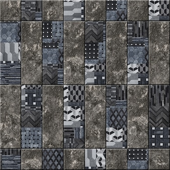 Decorative ceramic wall tiles with abstract pattern and natural stone texture. element for interior design. background stone texture. mosaic