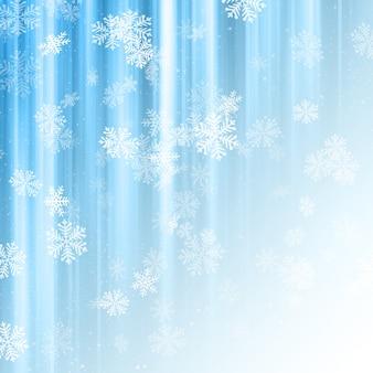 装飾的なクリスマスの背景と雪片