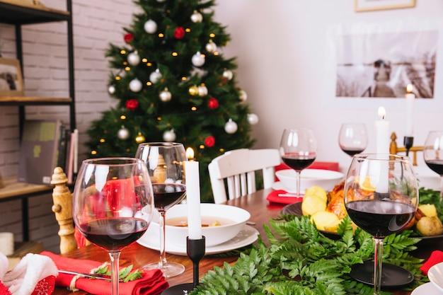 Decorative christmas table