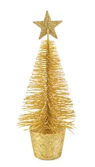 白で隔離の装飾的なクリスマスツリー