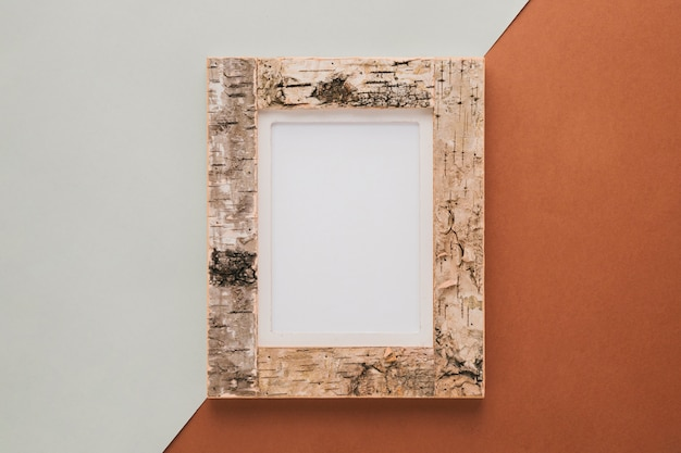 Decorative cork frame with empty space