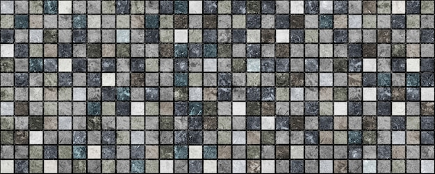 Decorative dark tiles with patterns and texture of natural stone. element for interior design