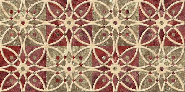 Decorative embossed ceramic tiles with a pattern. background texture.