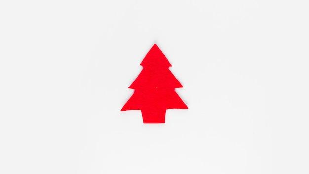 Decorative fir tree on light board