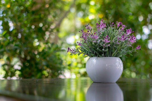 Decorative flowers on a vase