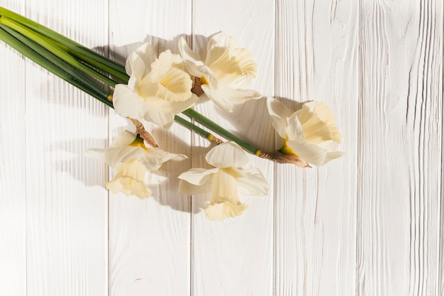 Decorative flowers with wood texture