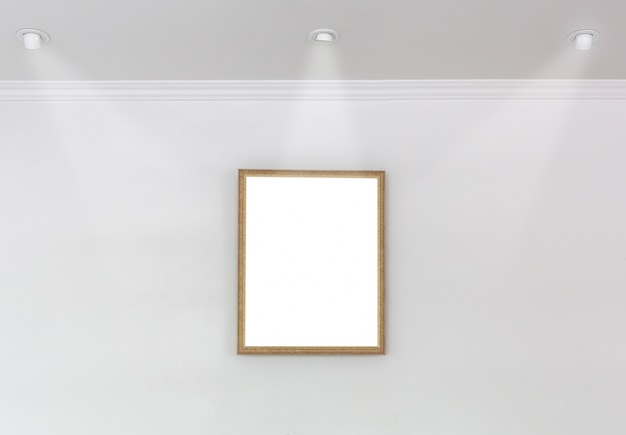 Decorative frame with three spotlights
