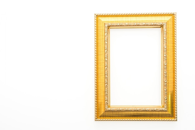 Decorative frame with white background