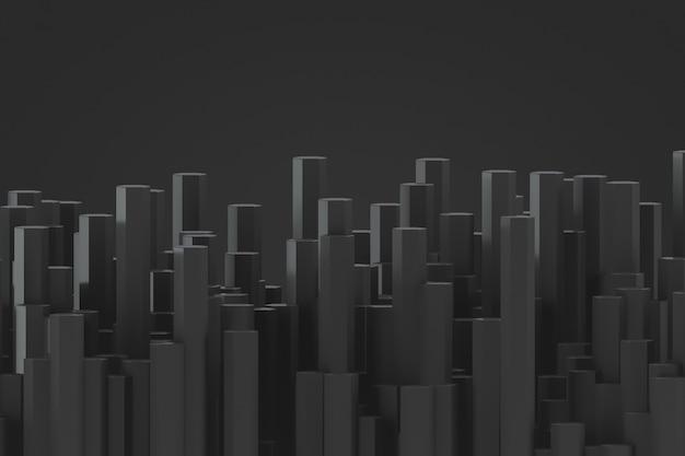 Decorative futuristic backdrop in in dark colors. many rods