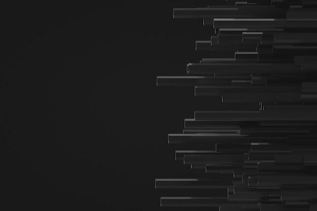 Decorative futuristic backdrop in in dark colors
