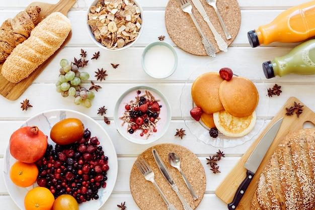 Decorative healthy breakfast concept