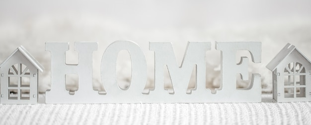 Decorative letters forming word home