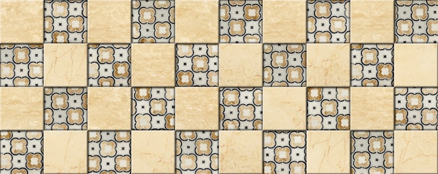 Декоративная мозаика из камня. мраморная и гранитная плитка с цветочным рисунком.