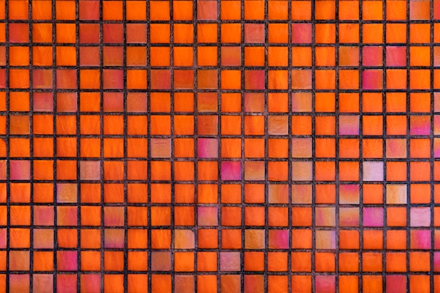 Decorative orange mosaic textured background