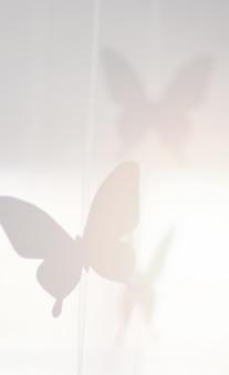 Decorative paper butterflies background