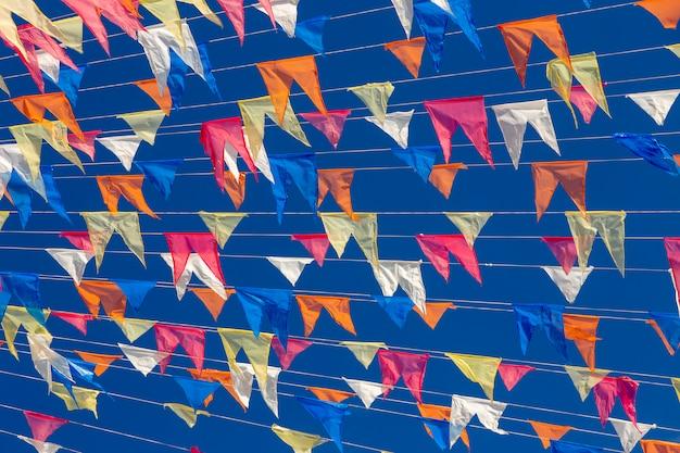 Decorative pennons of festas juninas