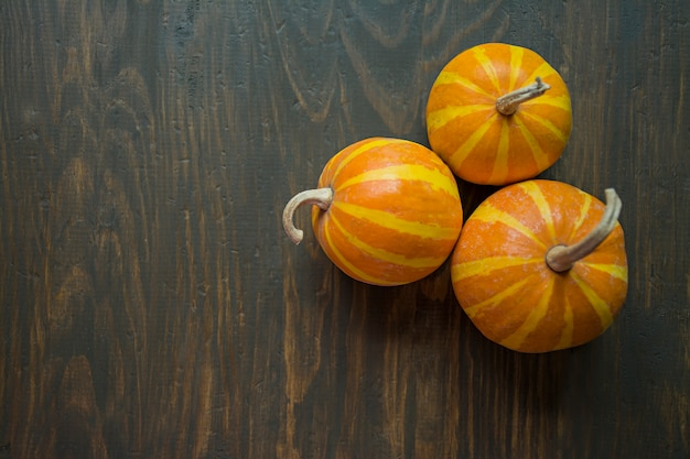 Decorative pumpkin on the table.