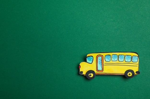 装飾的なスクールバス、テキスト用のスペース